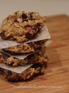 one handed cooks: baby & toddler snacks: fruity cookies