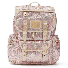 NWOT Juicy Couture Pink Sequin & Velour Pailette Backpack $99 #JuicyCouture #BackpackStyle