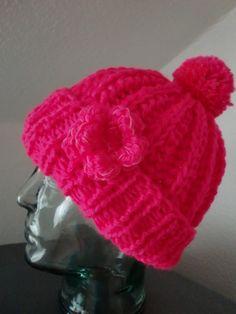 Mütze mit Leuchtbommel Neu!!! Texlight Bommelmütze von Auenblume auf DaWanda.com