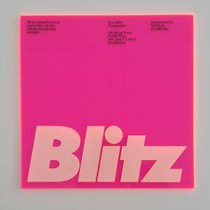 Michael Bierut / Vignelli Associates / Irving Blitz / Invitation / 1986