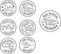Christmas and Winter Stamped Message Labels.  4f6727dc7ac84aba4426fc76957b7861.jpg (1600×1426)