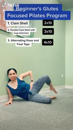 Pilates For Beginners, Gym Workout For Beginners, Fitness Workout For Women, Workout Videos, Beginner Pilates, Pilates Video, Yoga Videos, Pilates Workout, Butt Workout