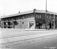 The southwest corner of Madison and McKinley Ave. 1946 Lakewood Ohio, Cleveland Ohio, Nostalgia, Sweet Home, Childhood, Corner, Street View, United States, City
