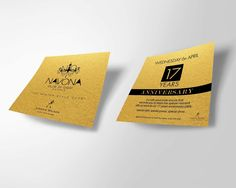 Invitation with gold paper for 17 years anniversary