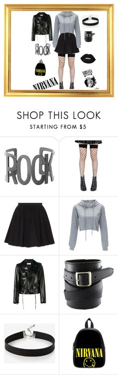 """""""Rock style"""" by azradesing ❤ liked on Polyvore featuring Steve Madden, Leg Avenue, RED Valentino, Yves Saint Laurent and Express"""