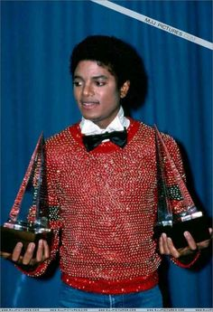 Michael Jackson | Two American Music Awards | 1981