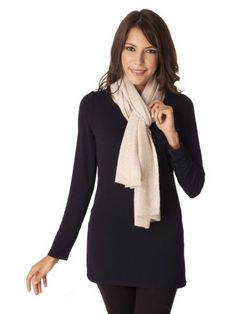 Textured cashmere scarf 71302-409 | Repeat Cashmere