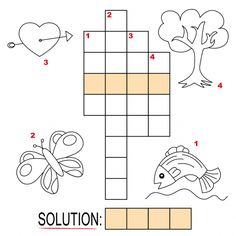 Fill your child's summer with fun and education by printing our easy online crossword puzzles! These easy kids crossword puzzles use pictures to help your child work on their spelling and vocabulary.