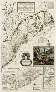 Herman Moll:  A New and Exact Map of the Dominions of the King of Great Britain on ye Continent of North America 1715 Barry Lawrence Ruderman Antique Maps Inc.