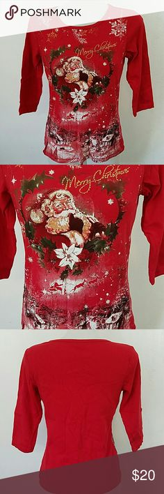 Christmas T-shirt by Christopher and Banks Christmas T-shirt by Christopher and Banks. In great condition. Size small. Christopher & Banks Tops