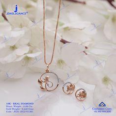 Real Diamond Pendant Set jewellery for Women by jewelegance. ✔ Certified Hallmark Premium Gold Jewellery At Best Price Pendant Set, Gold Pendant, Diamond Pendant, Diamond Jewelry, Gold Jewelry Simple, Stylish Jewelry, Gold Jewellery Design, Rakhi, Chains