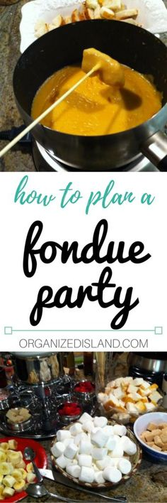 Thinking of planning a fondue party? It's a fun way to get everyone  involved.
