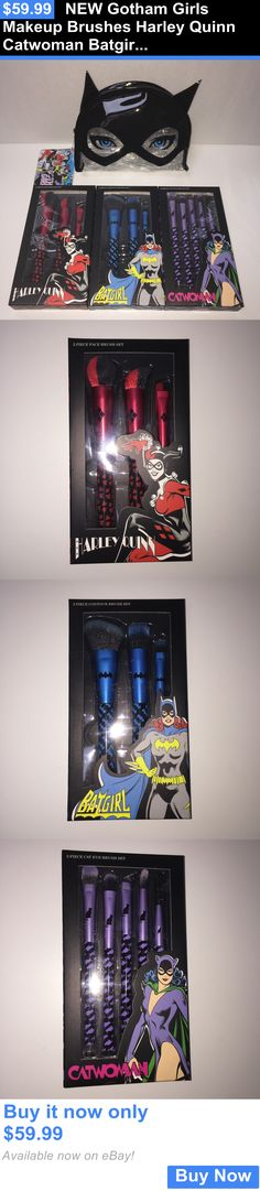 Beauty Makeup: New Gotham Girls Makeup Brushes Harley Quinn Catwoman Batgirl Cosmetic Bag BUY IT NOW ONLY: $59.99