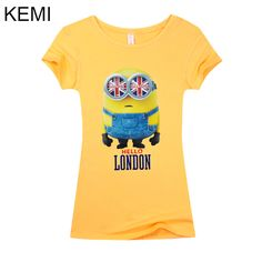 US $5.40 -- AliExpress.com Product - 2016 New summer 3d kawaii Womenfashion women t shirt minion Lycra Tee T Shirt