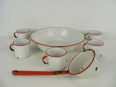 Enamel ware    I just got this big bowl today...thanks @Luan Ippensen! {CJM}