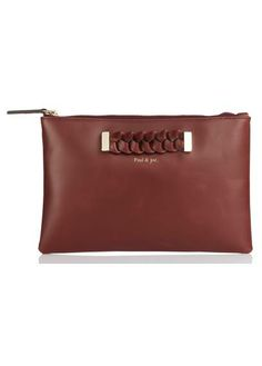 Trousse cuir Tom  Rouge by PAUL AND JOE