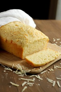 Quick Parmesan and Cheddar Cheese Bread | Easy to mix up and have on the table in less than 1 hour. Perfect match with soups and chili.