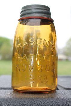 Jar is in very good condition. Antique Bottles, Bottles And Jars, Antique Glass, Glass Bottles, Ball Canning Jars, Ball Jars, Blue Mason Jars, Rustic Mason Jars, Dream Jar