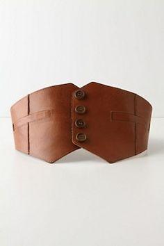 Waistcoat style waist belt