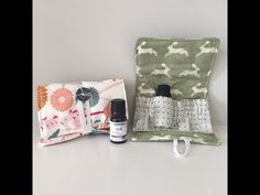 How to sew an essential oil wallet case holder bag - YouTube