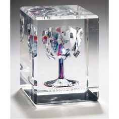 Rectangular Wedding Glass Lucite Cube-Aaron and I want to do this with are broken glass