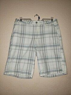 New women white color  rip  bermuda capri twill shorts-size SML