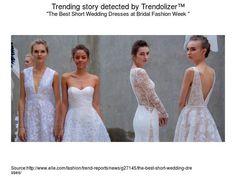 The Best Short Wedding Dresses at Bridal Fashion Week