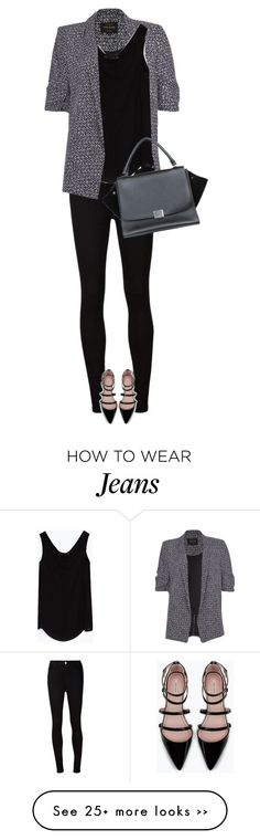 """""""street style"""" by ecem1 on Polyvore featuring mode, River Island, AG Adriano Goldschmied, Zara et CÉLINE"""