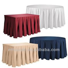 box pleat polyester table skirts cover table skirting cover $3.50~$15.85