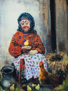 Уютный и тёплый мир в картинах Ладо Тевдорадзе (14фото) » Картины, художники, фотографы на Nevsepic