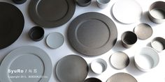 blw-store: SyuRo [hemp palm] / せっ device plate S (black) / Kitchen Goods, Tool Store, Cool Kitchens, Stoneware, Tea Pots, Pottery, Plates, Ceramics, Ceramica