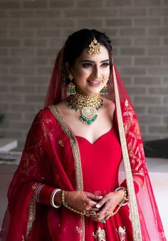 A Lockdown Wedding With The Bride In A Self Designed Lehenga Indian Bridal Outfits, Indian Bridal Fashion, Bridal Dresses, Bridal Makeup Looks, Bridal Looks, Bridal Style, Bride Makeup, Wedding Makeup, Pakistani Bridal