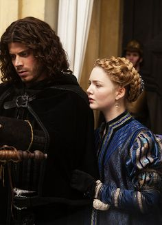 François Arnaud & Holliday Grainger in 'The Borgias' (2011).