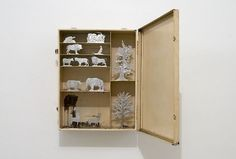 Mark Dion. Natural History, 2012  tincast elements, metal box