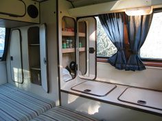 Custom Westy Interior Shelving in closet. | Flickr - Photo Sharing!