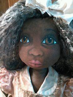 Primitive Black Folk Art Doll 27 Inches OOAK Original #BlackFolkArt