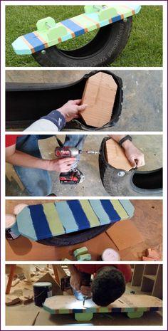 Tire Teeter Totter - Sugar Bee Crafts