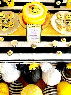 Emoji Themed Birthday Party Desserts via Pretty My Party
