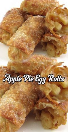 10 Easy Apple Dessert Recipes Full of the Flavor of Fall! – Tasteful Tavern 10 Easy Apple Dessert Recipes Full of the Flavor of Fall! Apple Dessert Recipes, Egg Roll Recipes, Apple Recipes, Just Desserts, Sweet Recipes, Delicious Desserts, Yummy Food, Easy Apple Desserts, Breakfast Recipes