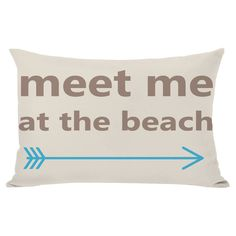 Meet Me at the Beach Pillow