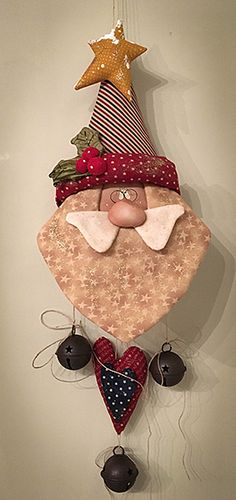 Items similar to Santa HoHoHo USA epattern on Etsy Christmas Makes, Christmas Door, Felt Christmas, Handmade Christmas, Christmas Holidays, Christmas Wreaths, Christmas Decorations, Christmas Ornaments, Father Christmas
