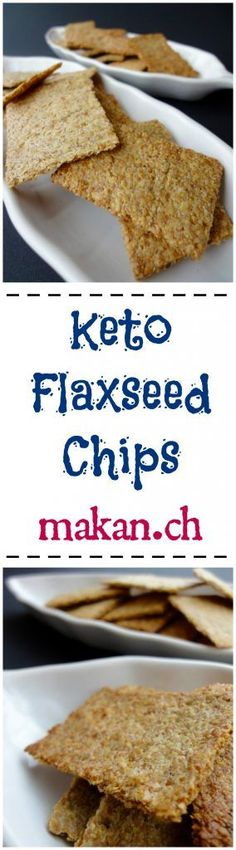 Keto Flaxseed Chips. Fast and easy for a little snack or dip!