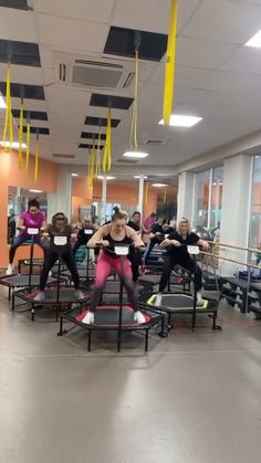 Full Body Gym Workout, Bum Workout, Gym Workout Tips, At Home Workout Plan, Workout Challenge, Dance Workout Videos, Lose Lower Belly Fat, Lose Belly, Trampoline Workout