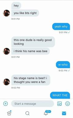 1/2 : HAHAHH I guess Taehyung is called Bee now! // Credits to: @btssilks