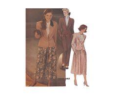 Sewing Pattern Women's Lined Short Jacket Skirt by HoneymoonBus