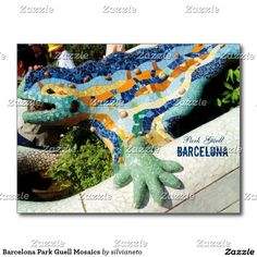 "SOLD to UK ""Barcelona Park Guell Mosaics Postcard"", thanks :) #Barcelona #ParkGuell #Gaudi #AntoniGaudi #ParqueGuell"