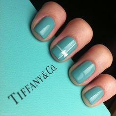 Tiffany & Company Nails nails blue nail polish bows tiffany's turquoise teal – Wedding Gorgeous Nails, Love Nails, How To Do Nails, Fun Nails, Pretty Nails, Fabulous Nails, Tiffany Und Co, Azul Tiffany, Tiffany Theme