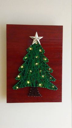 Christmas String Art - Wall Art Home Decor Signs come ready to hang and are approximately 13 x 9 inches. If you have any questions at all, please do not hesitate to ask! I would love to work with you on your customized piece! Christmas Crafts, Christmas Decorations, Holiday Decor, Christmas Ideas, Home Decor Signs, Diy Canvas, Diy Wall Art, Christmas Inspiration, Picture Wall