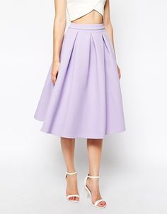 Enlarge ASOS Premium Prom Midi Skirt in Bonded Crepe