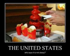 Omg!!! A ketchup fountain. This looks amazing minus all those fries. Love me some ketchup